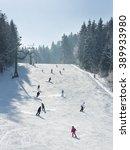 ski resort winter season... | Shutterstock . vector #389933980