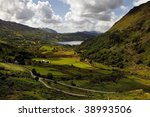 Welsh Valley - stock photo