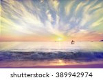 Sea Beach Sunset Gold