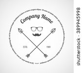 vector logotype. retro vintage... | Shutterstock .eps vector #389945998