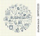 infographics on business... | Shutterstock .eps vector #389952220