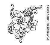 doodle vector illustration... | Shutterstock .eps vector #389952559