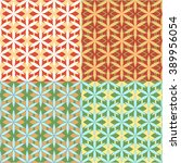 vector set of arabic seamless... | Shutterstock .eps vector #389956054