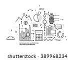 flat style  thin line art... | Shutterstock .eps vector #389968234