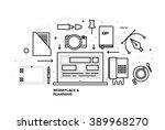 flat style  thin line art... | Shutterstock .eps vector #389968270