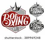 boxing logo | Shutterstock .eps vector #389969248