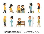 medical staff flat  isolated on ... | Shutterstock .eps vector #389969773