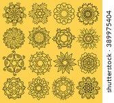 flowers set | Shutterstock .eps vector #389975404