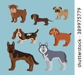vector illustration of dog... | Shutterstock .eps vector #389975779