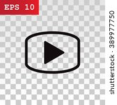video icon  vector illustration | Shutterstock .eps vector #389977750