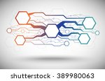 abstract background consisting... | Shutterstock .eps vector #389980063