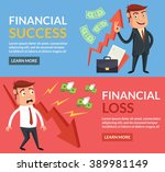 financial success  financial... | Shutterstock .eps vector #389981149