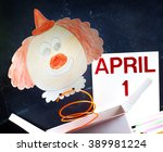 april fools day symbol concept... | Shutterstock . vector #389981224