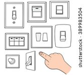 vector set of electric switch | Shutterstock .eps vector #389983504