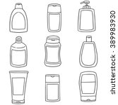 vector set of shampoo and... | Shutterstock .eps vector #389983930