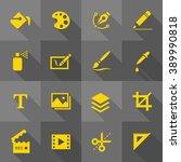 vector flat icon set   design... | Shutterstock .eps vector #389990818