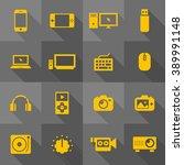 vector flat icon set   gadget  | Shutterstock .eps vector #389991148