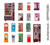 vending machines icons set with ... | Shutterstock .eps vector #389996080