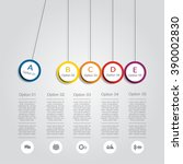 infographic report template... | Shutterstock .eps vector #390002830