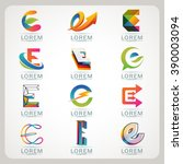logo e element and abstract web ... | Shutterstock .eps vector #390003094