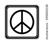 peace sign    black vector icon | Shutterstock .eps vector #390003238