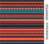 seamless vector tribal texture... | Shutterstock .eps vector #390009520
