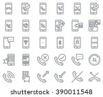 phone calls  mobile phone icon... | Shutterstock .eps vector #390011548