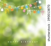 birthday garden party.... | Shutterstock .eps vector #390013870