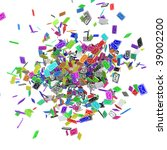 many small 3d email message...   Shutterstock . vector #39002200