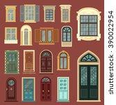 Vintage Doors. Detailed Window...