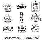 happy easter typography design... | Shutterstock .eps vector #390028264