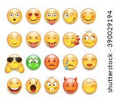 emoticons set | Shutterstock .eps vector #390029194