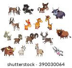 Vector Set Of Funny Cute...
