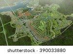 town bird view plan | Shutterstock . vector #390033880