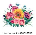 Watercolor Bouquet Clipart ....