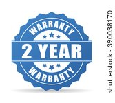 2 years warranty icon isolated... | Shutterstock .eps vector #390038170