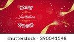 grand opening horizontal banner.... | Shutterstock .eps vector #390041548