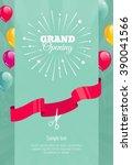 grand opening vertical banner.... | Shutterstock .eps vector #390041566