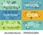 banners set idea startup...