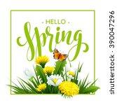 inscription spring time on... | Shutterstock .eps vector #390047296