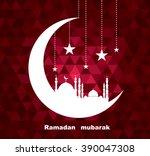 vector illustration of moon... | Shutterstock .eps vector #390047308