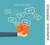 communication chatting.flat... | Shutterstock .eps vector #390054610