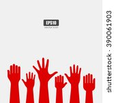 Raised Hands Icon  Vector Poster