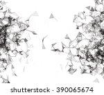 wireframe mesh polygonal... | Shutterstock . vector #390065674