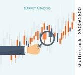 stock market analysis finance... | Shutterstock .eps vector #390065800