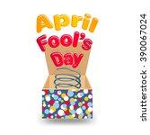 "inscription ""april fools day""... | Shutterstock .eps vector #390067024"