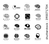 mind icons set   isolated on... | Shutterstock .eps vector #390071704