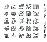 thin line business icons set.... | Shutterstock .eps vector #390073129
