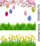 Colorful Hanging Easter Eggs ...