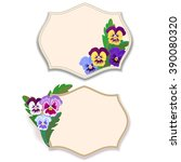 vector set labels and frames... | Shutterstock .eps vector #390080320